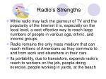 radio s strengths
