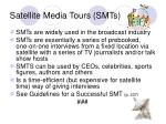 satellite media tours smts