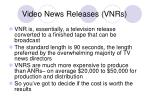 video news releases vnrs