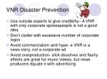 vnr disaster prevention