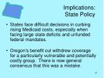 implications state policy
