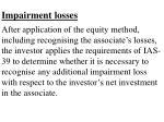 impairment losses