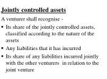 jointly controlled assets