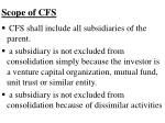 scope of cfs