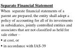separate financial statement