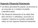 separate financial statements