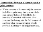 transactions between a venturer and a joint venture