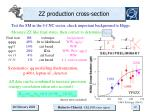 zz production cross section