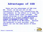 advantages of ssb
