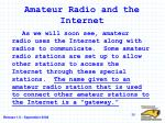 amateur radio and the internet