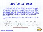 how cw is used
