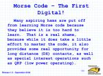 morse code the first digital