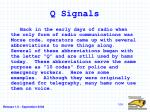 q signals