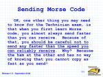 sending morse code