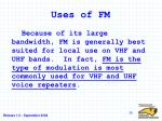 uses of fm