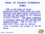 uses of single sideband ssb