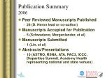 publication summary 2006