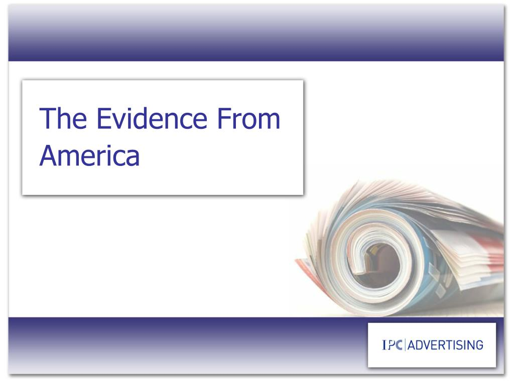 The Evidence From America