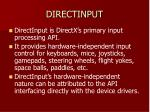 directinput
