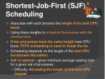 shortest job first sjf scheduling