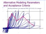 alternative modeling parameters and acceptance criteria28