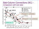 slab column connections rc comparison with test data
