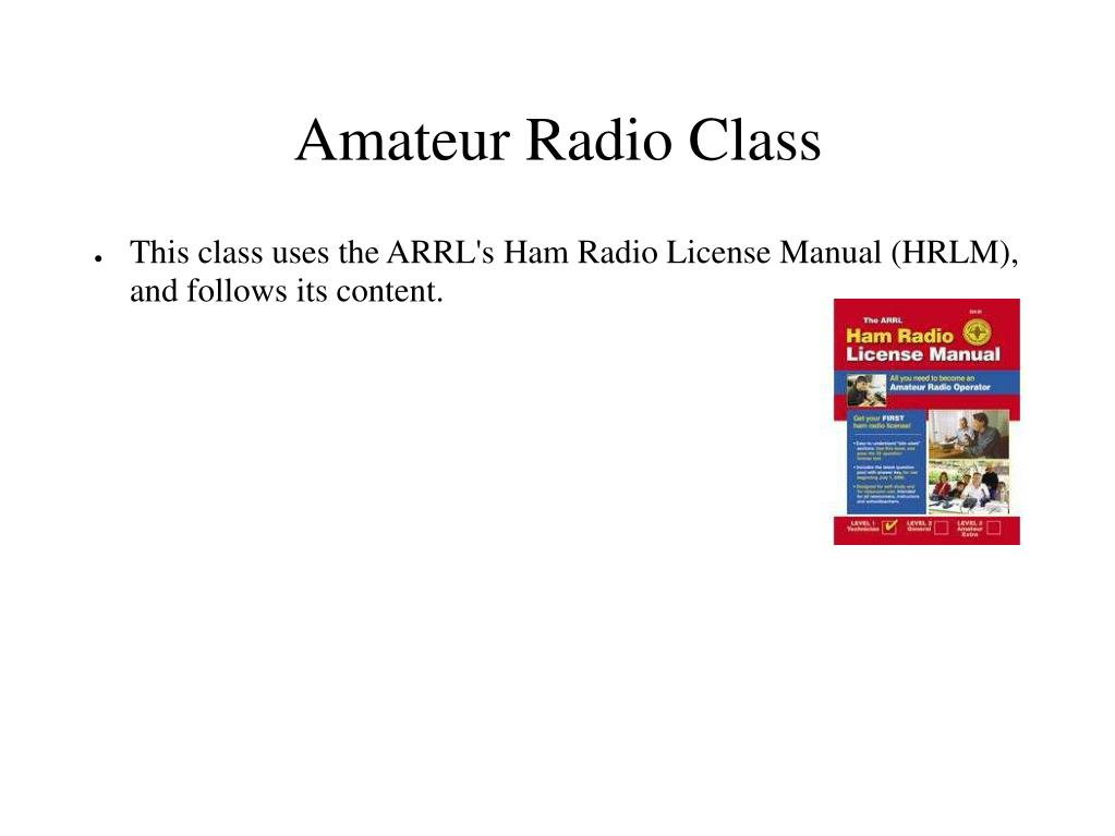 Amateur Radio Class