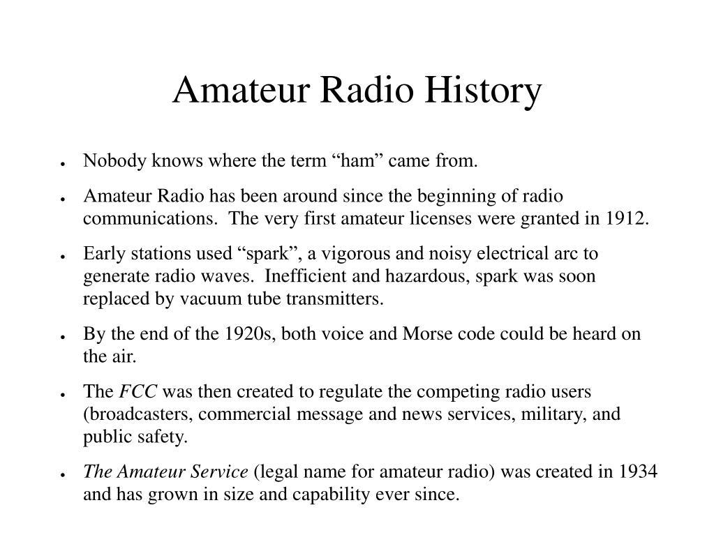 Amateur Radio History