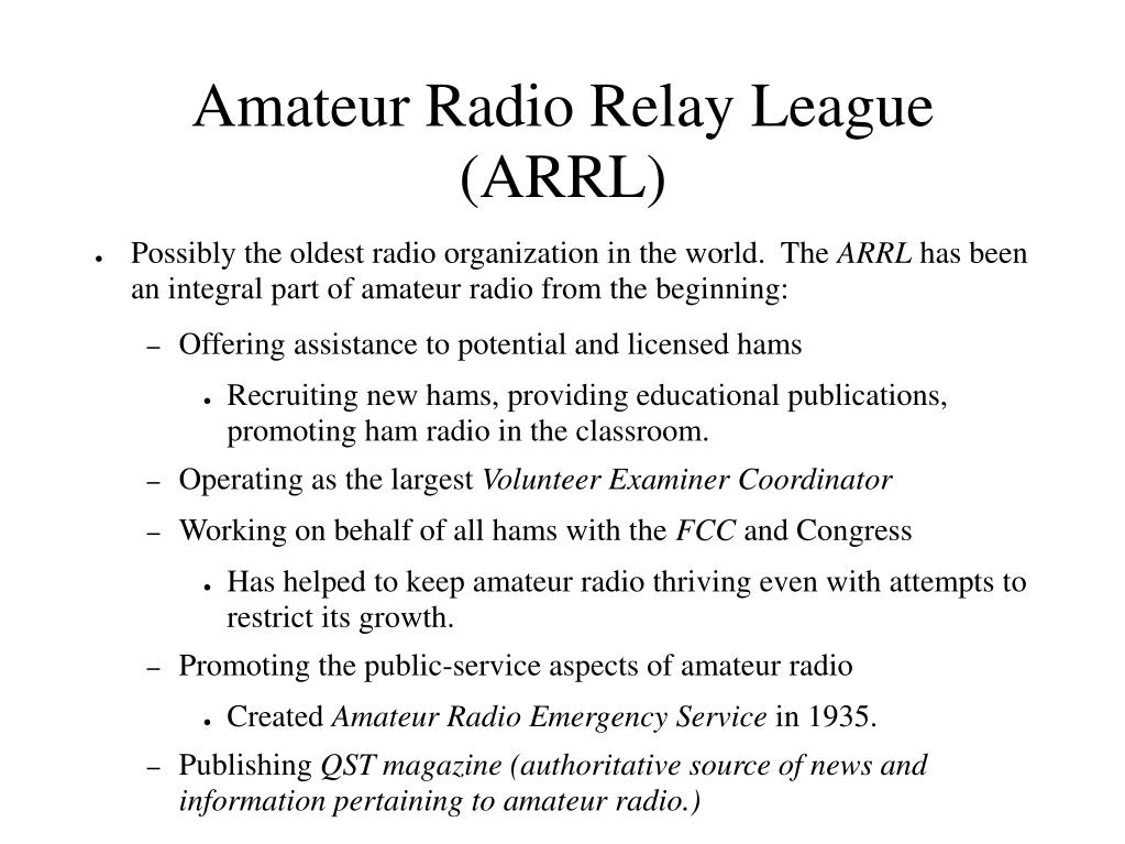 Amateur Radio Relay League (ARRL)