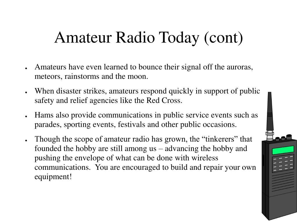 Amateur Radio Today (cont)