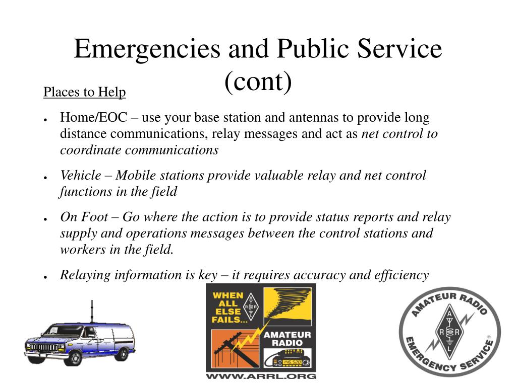 Emergencies and Public Service (cont)