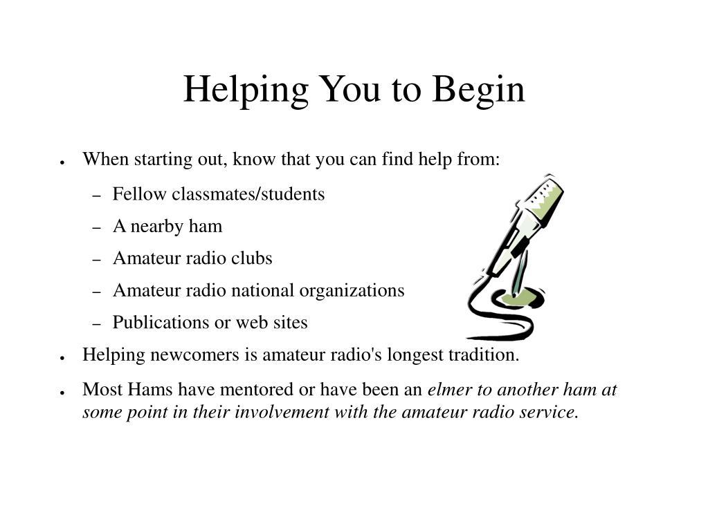Helping You to Begin