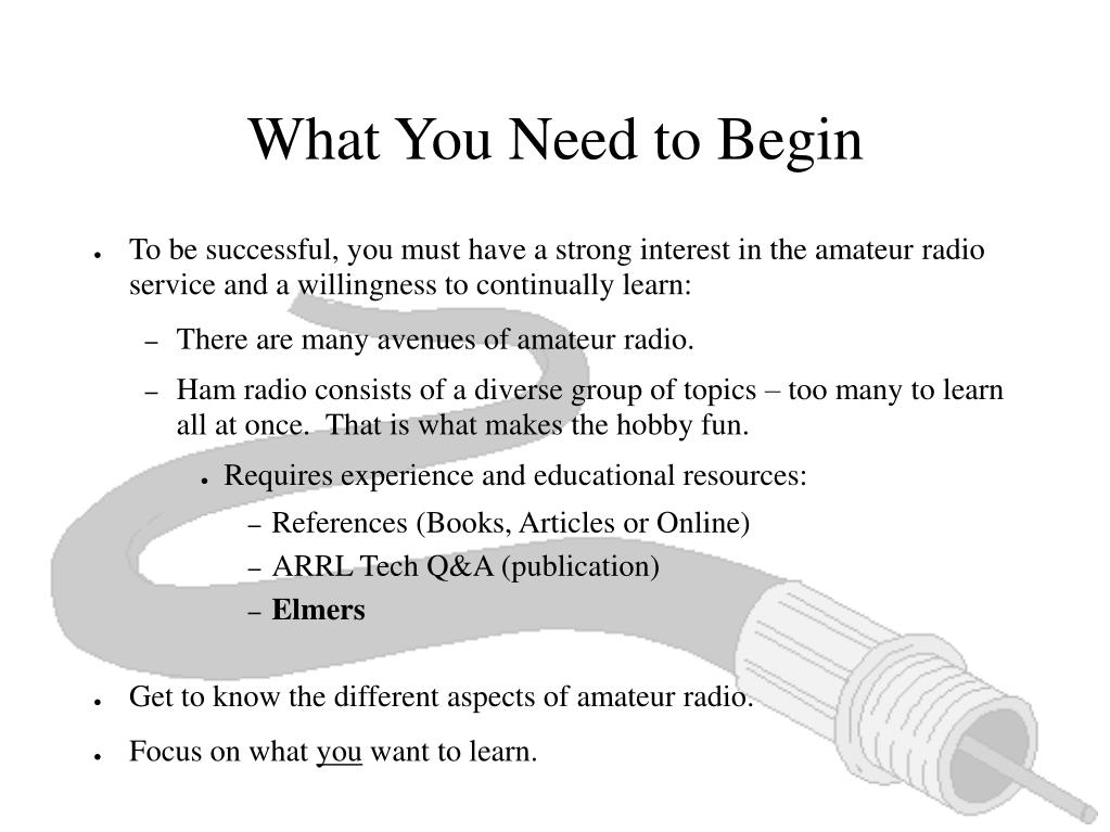What You Need to Begin