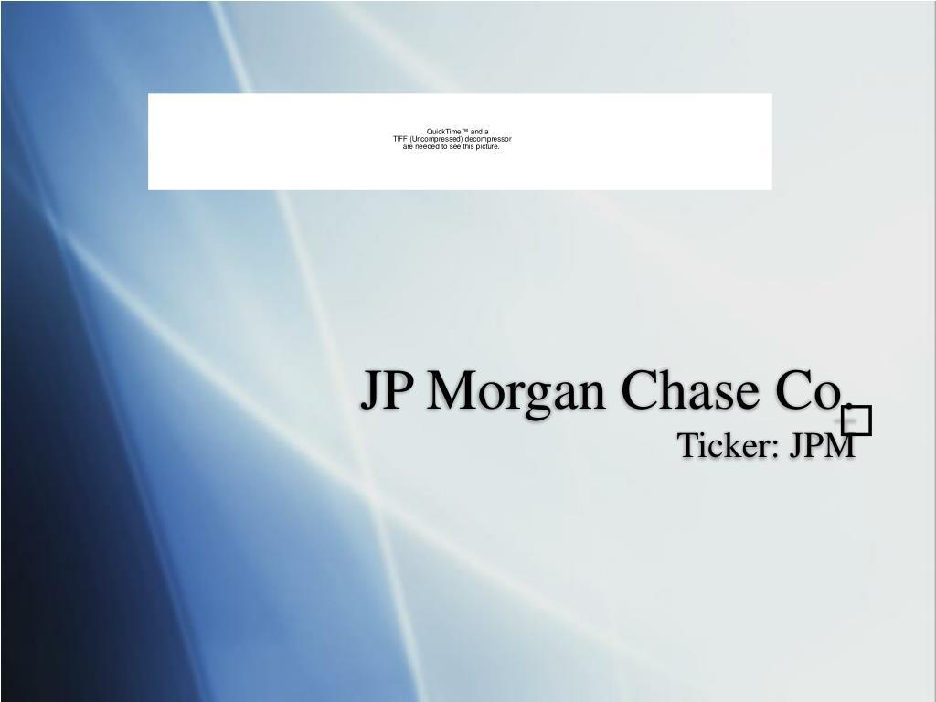 jp morgan chase co ticker jpm l.