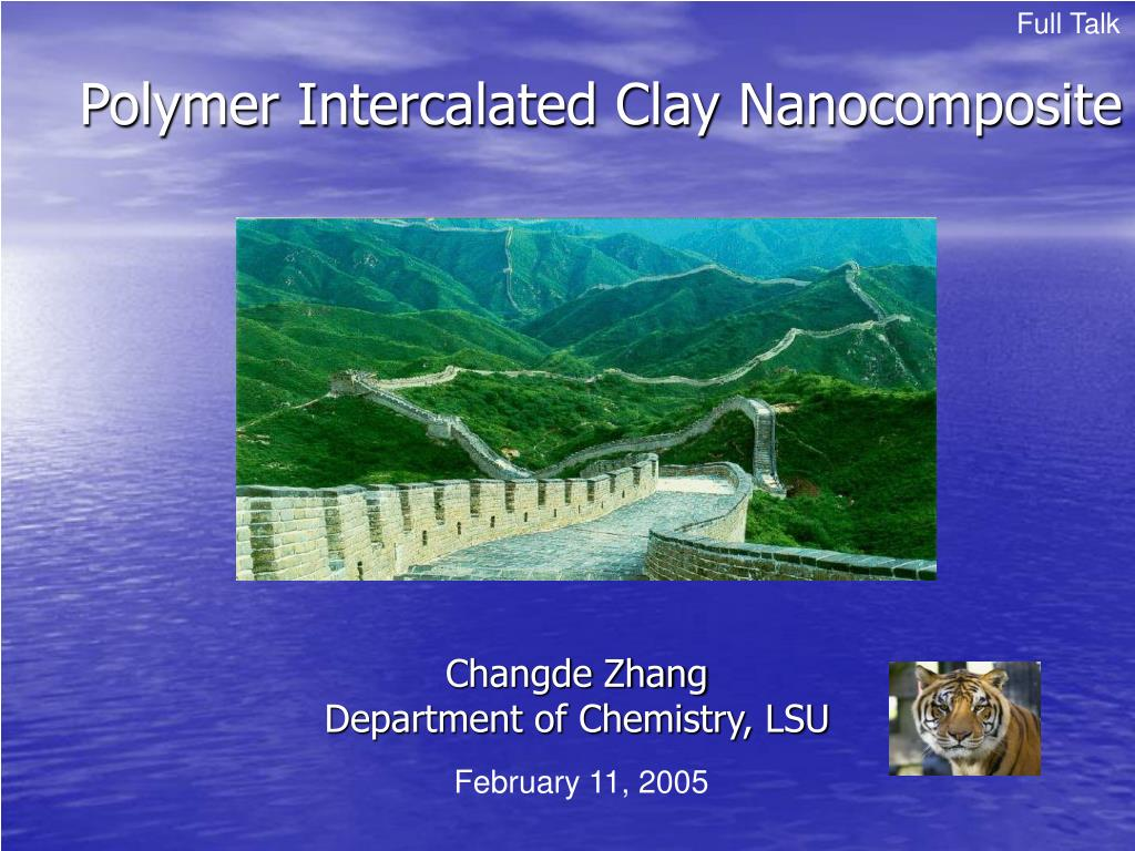 polymer intercalated clay nanocomposite l.