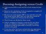 deeming assigning versus credit59