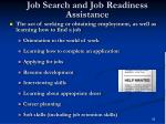 job search and job readiness assistance