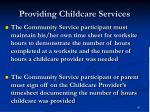 providing childcare services91