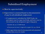 subsidized employment35