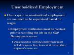 unsubsidized employment32