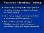 vocational educational training