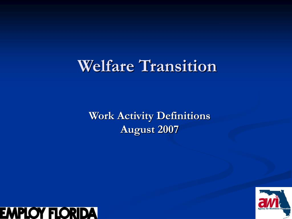 welfare transition l.