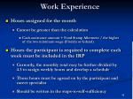 work experience45