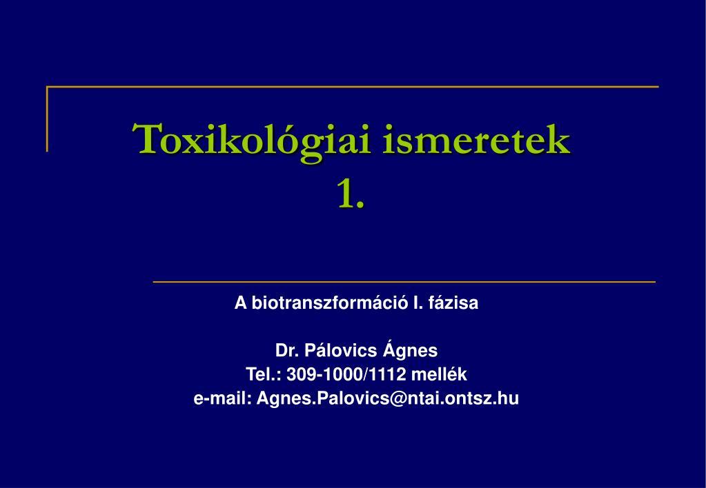 toxikol giai ismeretek 1 l.