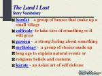 the land i lost story vocabulary