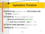 applications procedure