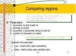 comparing regions