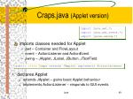 craps java applet version