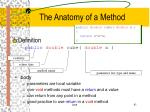 the anatomy of a method