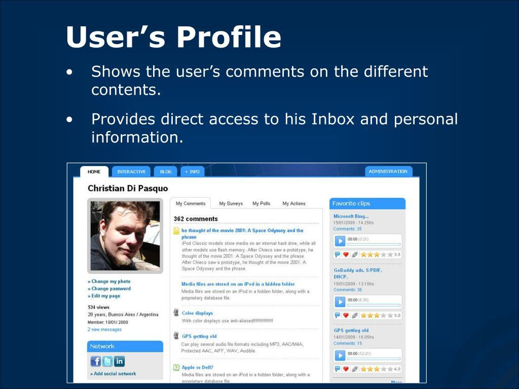 User's Profile